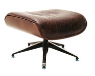 Vintage leather Browny footstool - Click photo for more details