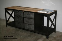 Industrial work sideboard with 6 drawer - Click photo for more details